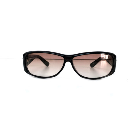 Gucci women's bronze sunglasses with gold morset