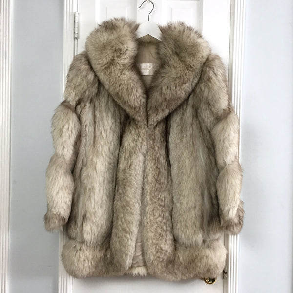 Edwards Lowell Beverly Hills women's custom made Fur coat sz M
