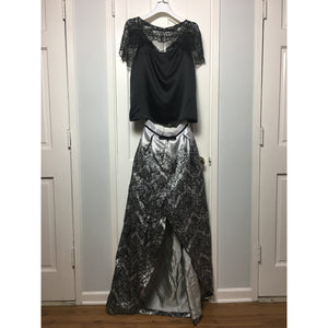 Cristina Pacini black and white haute Couture evening skirt set sz 2/4