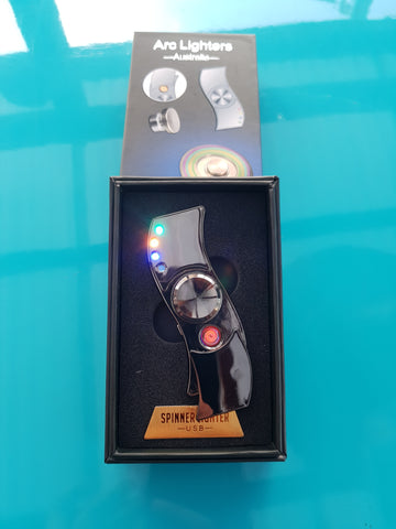 Onyx Fidget Spinner Lighter
