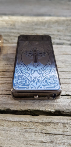Black Cross Signature Dual Arc Lighter