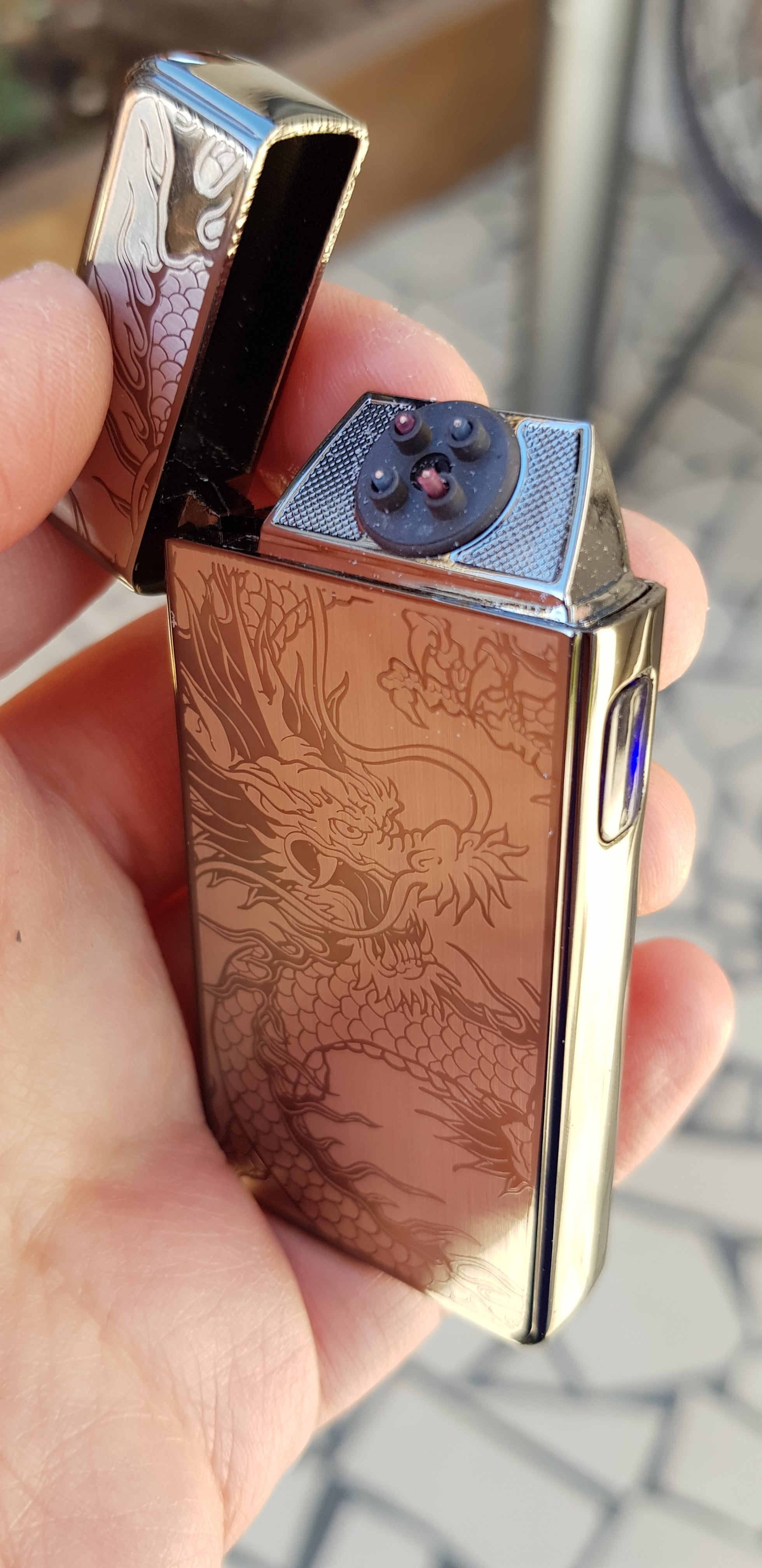 Black Dragon Signature Dual Arc Lighter