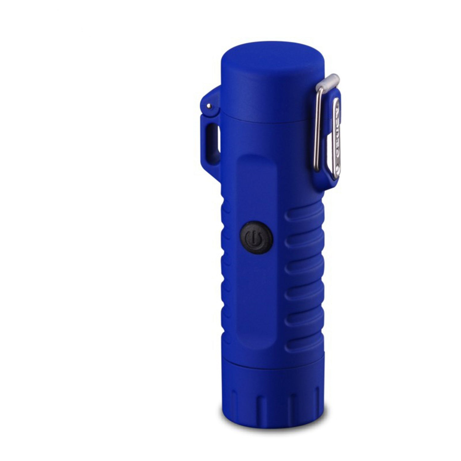 Blue Tactical Waterproof Dual Arc Lighter with LED Tri-Phase Flashlight
