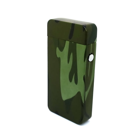 USB Rechargeable Camo Dual Plasma Arc Lighter with Side Button