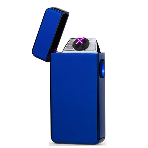 Electric Blue Signature Dual Arc Lighter