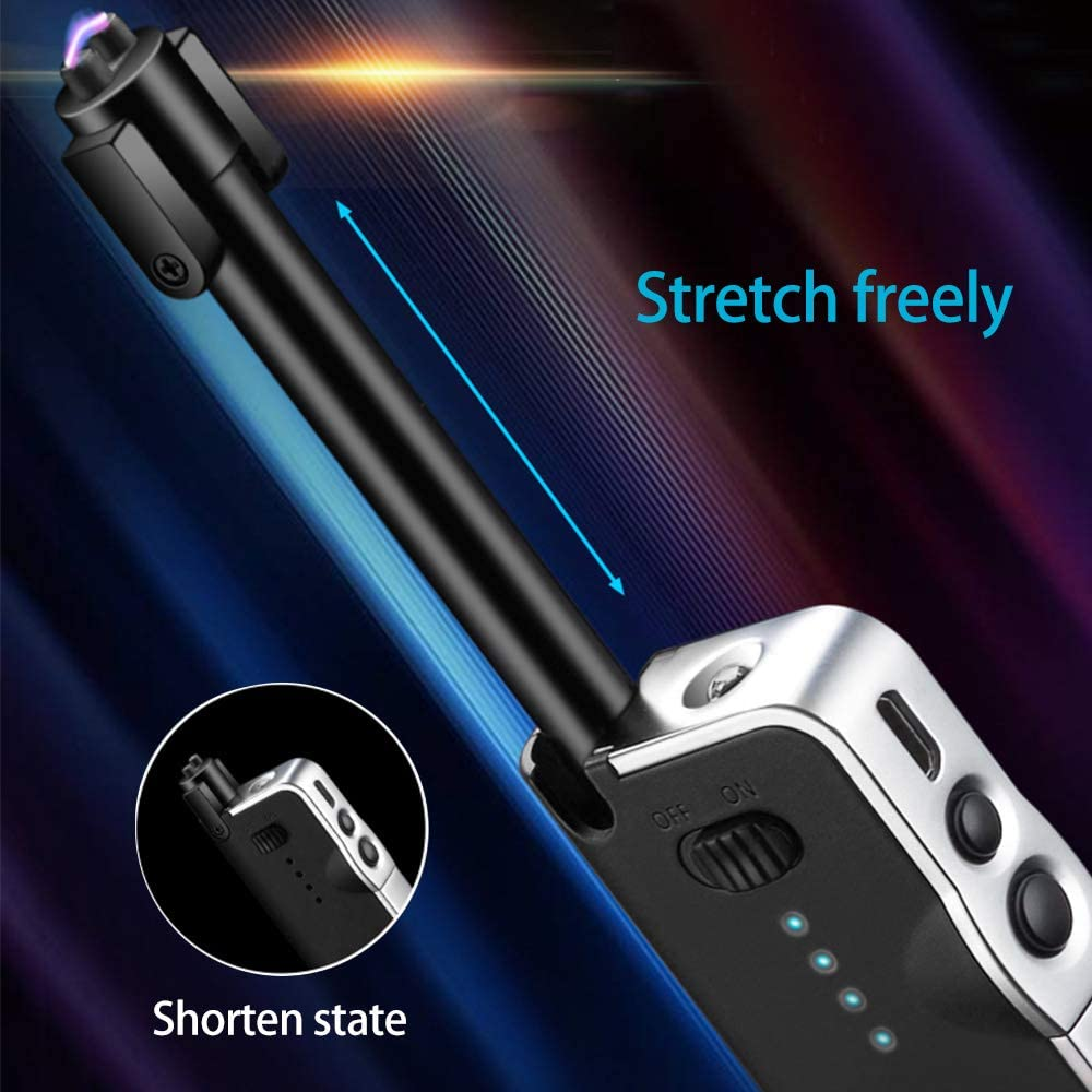 Fisherman's Friend2.0 Telescopic Arc Lighter with Battery Indicator & LED Torch Tactical