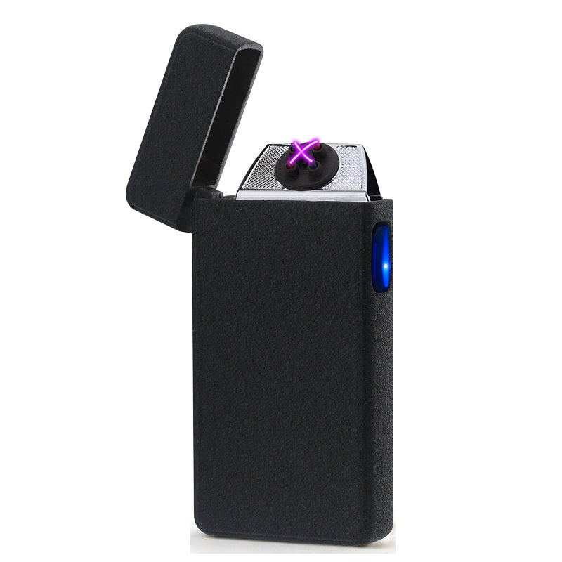 Frosted Black Signature Dual Arc Lighter