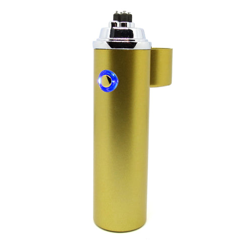 Gold Class Matte Gold Finish Cigar Arc Lighter