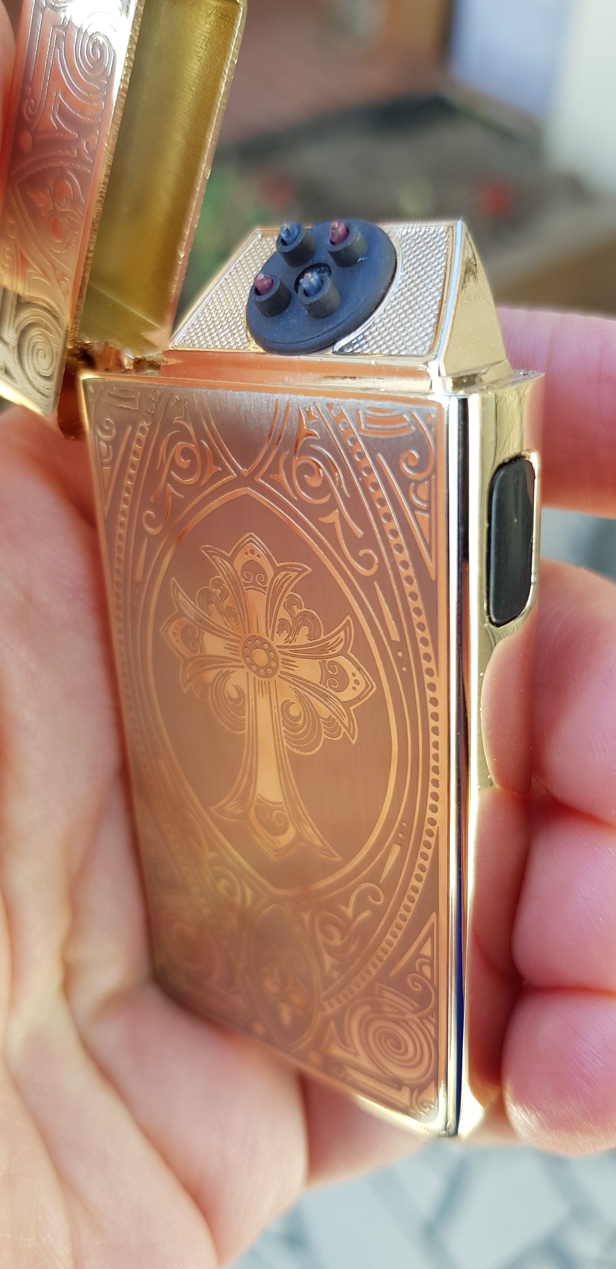 Gold Cross Signature Dual Arc Lighter