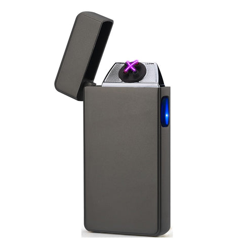 Matte Black Signature Dual Arc Lighter