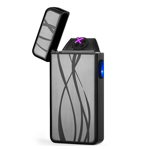 Pewter Sway Signature Dual Arc Lighter