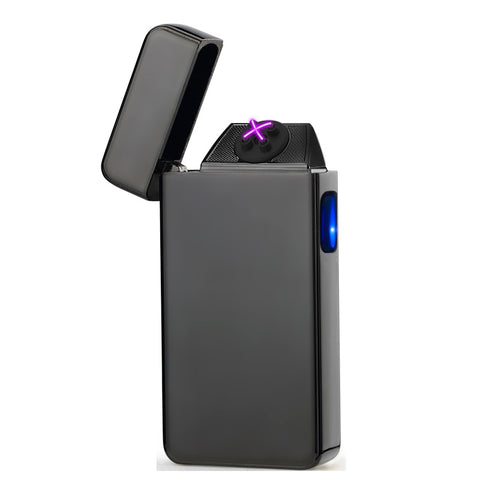 Shiny Black Signature Dual Arc Lighter