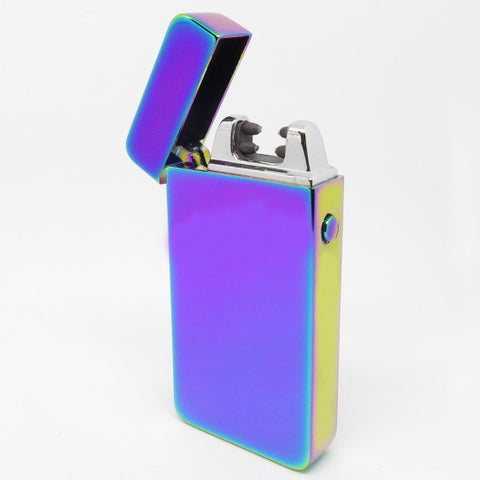 USB Rechargeable Titanium Dual Plasma Arc Lighter with Side Button