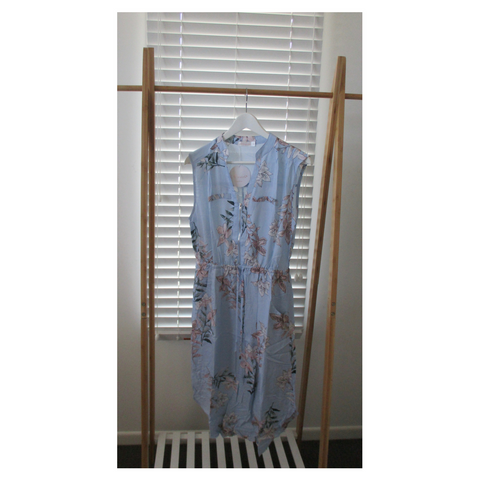 Pale Blue Zip Dress