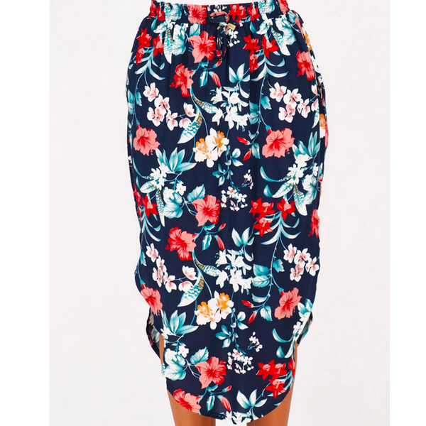 Floral Midi Skirt - Small