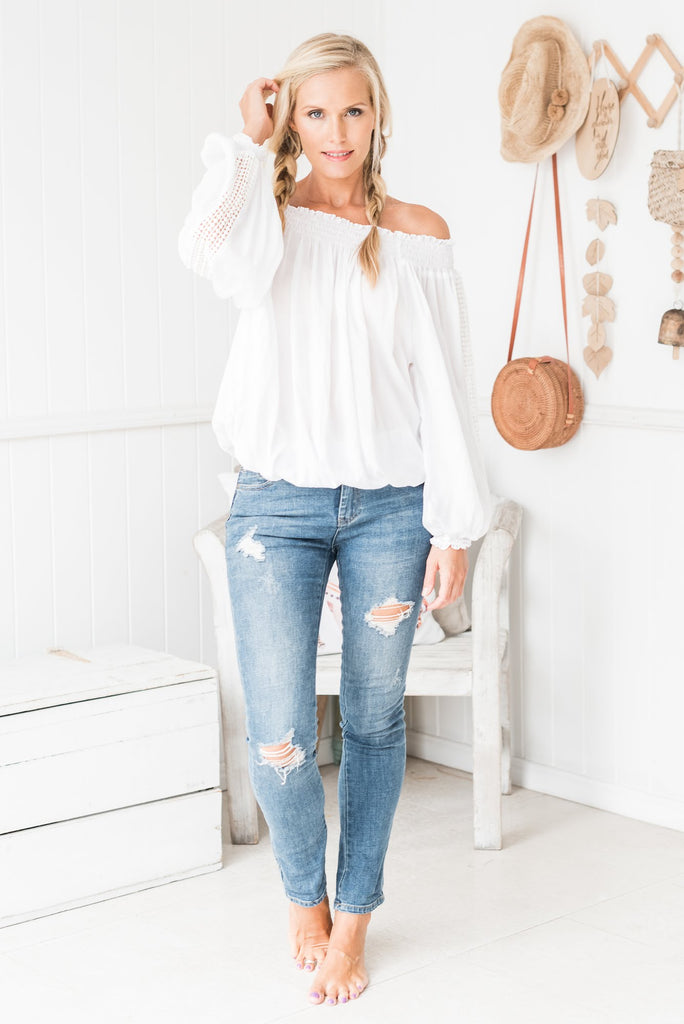 White Gypsy Top