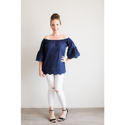 Scallop Top - Navy