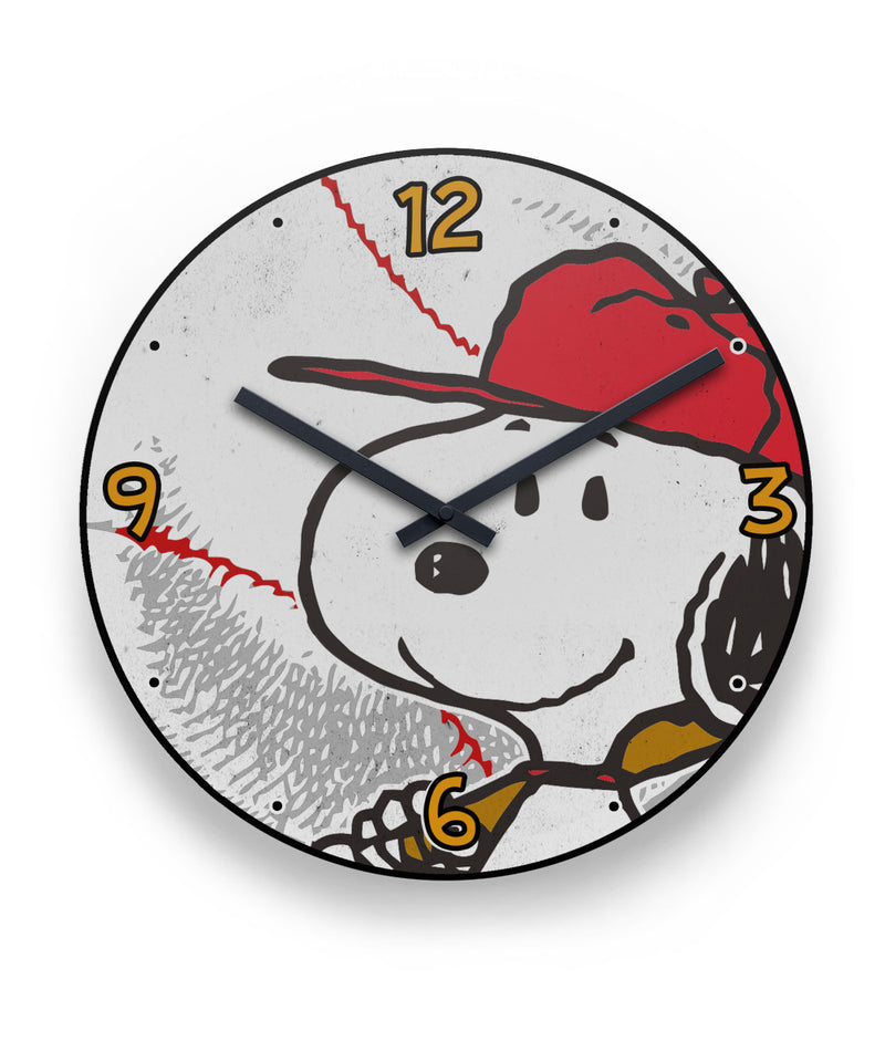 Peanuts Snoopy Baseball Wall Clock