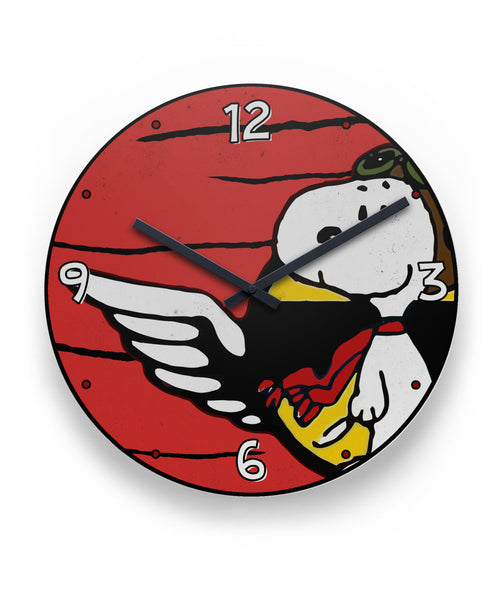 Be Brave Snoopy Flying Ace Wings Clock