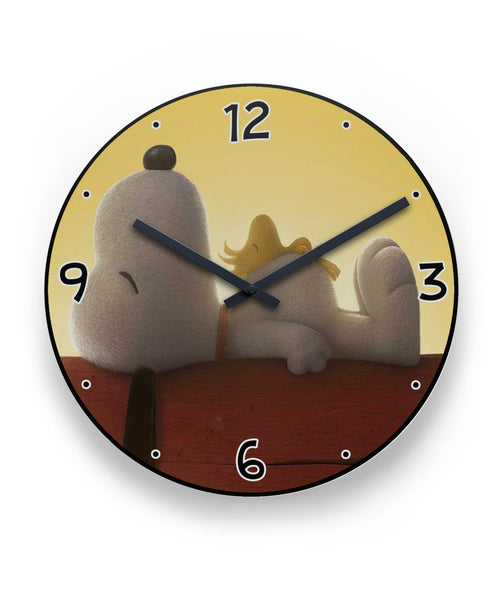 Snoopy And Woodstock Take A Nap Clock