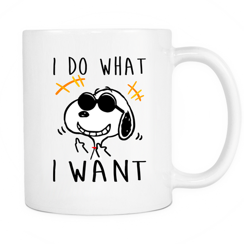 Joe Cool I Do What I Want Snoopy Mug