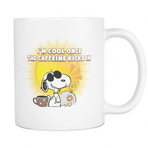 Joe Cool I'm Cool Once The Caffeine Kicks In Snoopy Mug