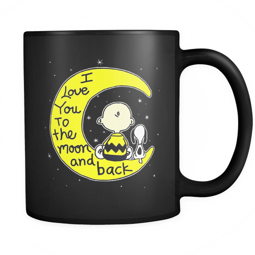 I Love You To The Moon And Back Snoopy Mug