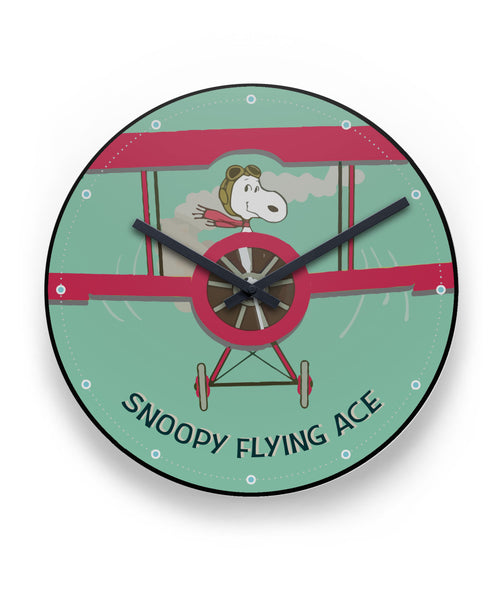 Peanuts Snoopy Flying Ace Clock