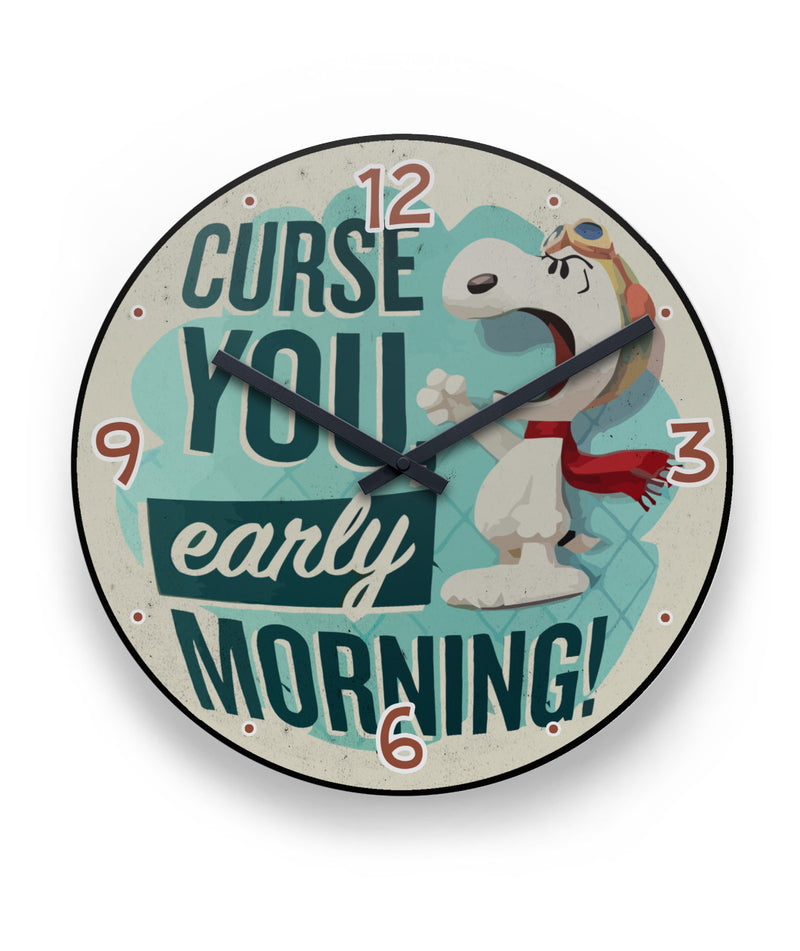 Curse You, Early Morning! Snoopy Clock