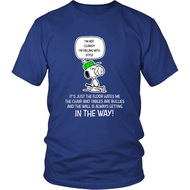 I'm Not Clumsy! I'm Falling With Style Snoopy Shirts