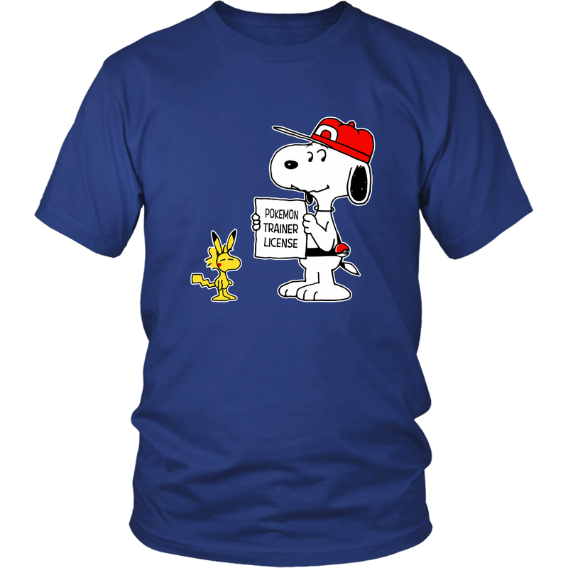 Pokemon Trainer License Snoopy Shirts