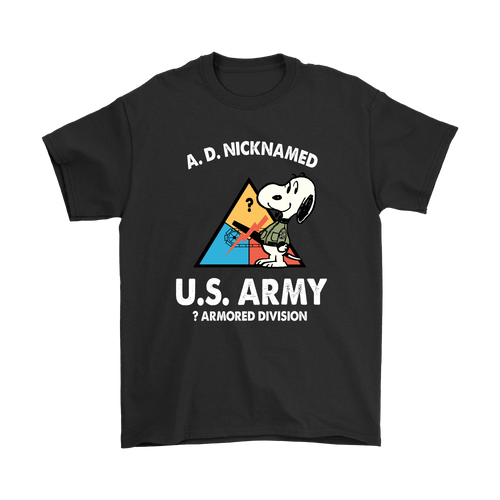 Personalise - U.S. Army Armored Division Snoopy Shirts