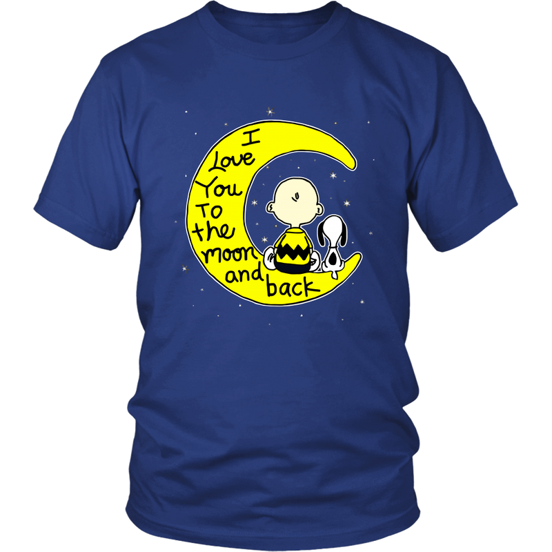 I Love You To The Moon And Back Snoopy Shirts