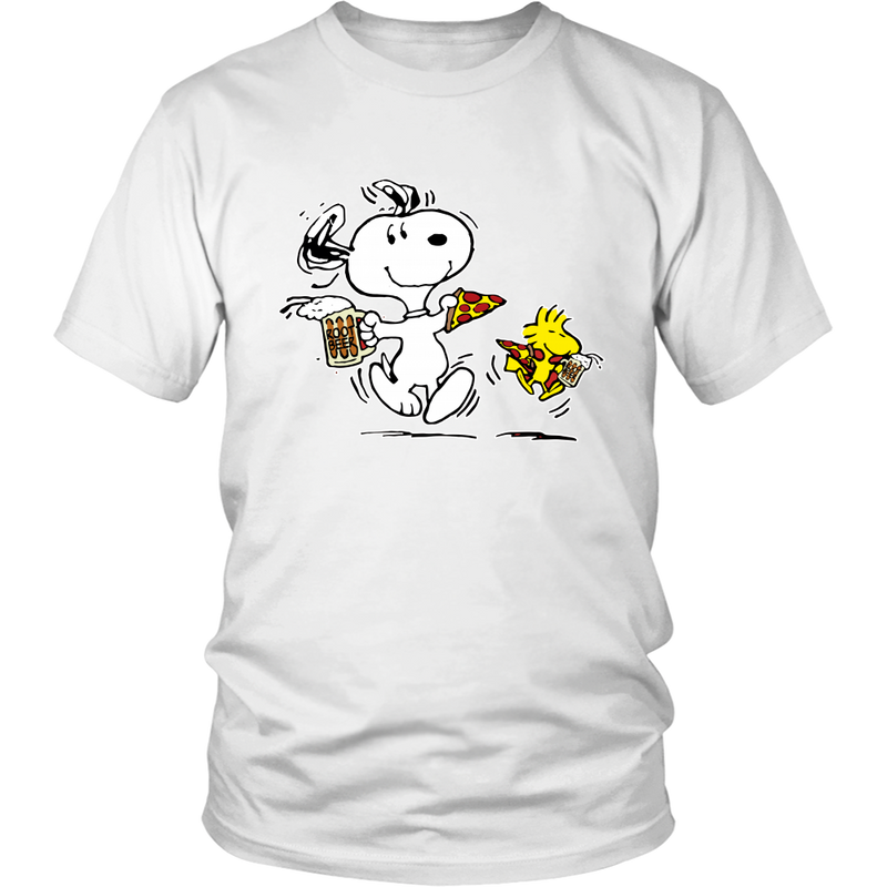 Pizza And Beer Snoopy Shirts