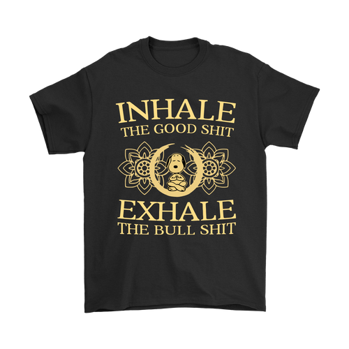 Inhale The Good Shit Exhale The Bull Shit Yoga Snoopy Shirts