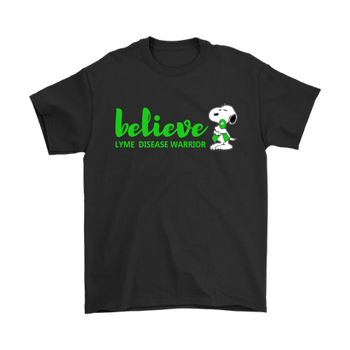 Believe Lyme Disease Warrior Snoopy Shirts
