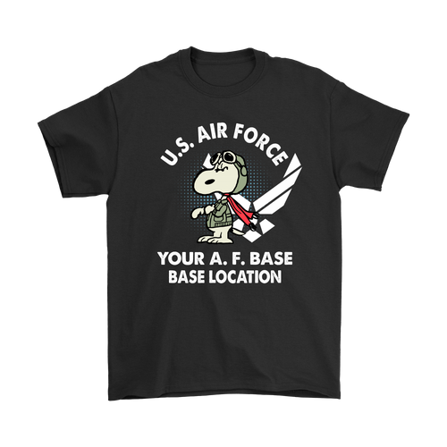 Personalise - U.S. Air Force Flying Ace Snoopy Shirts