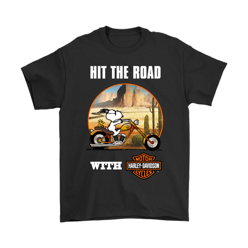 Joe Cool Wild Ride Hit The Road With Harley Davidson Snoopy Shirts