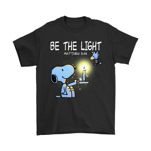 Be The Light Matthew 5:14 Christian Snoopy Shirts