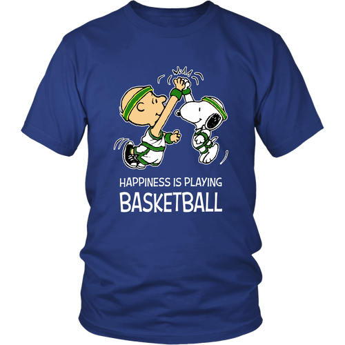 Happiness Is Playing Basketball Snoopy Shirts