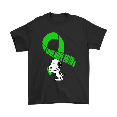 Love Hope Faith Lyme Disease Awareness Snoopy Shirts