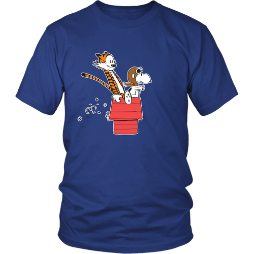 Hobbes And Snoopy Flying Ace Snoopy Shirts