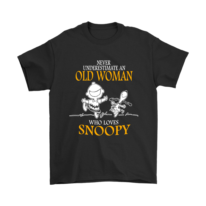 Never Underestimate An Old Woman Who Loves Snoopy Shirts
