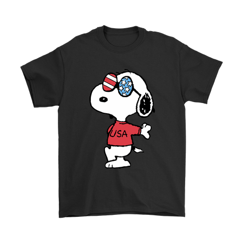 Joe Cool Independence Day I Love My America Snoopy Shirts