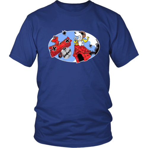 Battling The Red Baron Snoopy Shirts