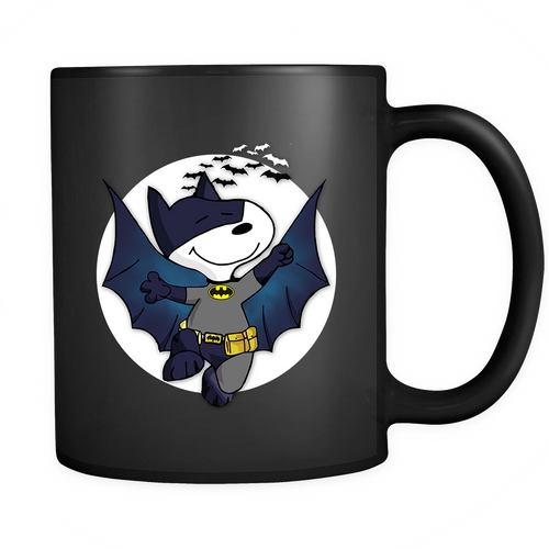 Batman It Was A Dark And Stormy Night Bat Beagle Snoopy Mug