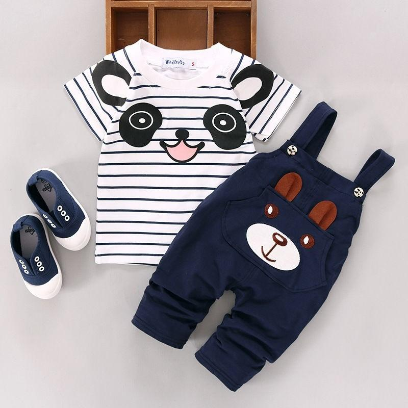 Panda & Bear Infant Outfit Set (2 pcs) - Jeyve.com