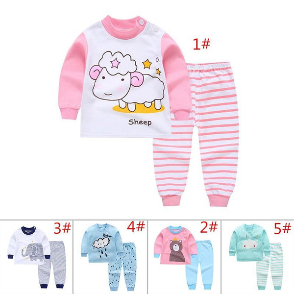C-LIGHT™ Baby Boys/Girls Clothes Top+Pants Cotton Baby Pyjamas Sleepwear - 2pcs