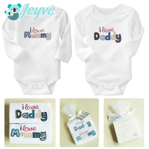 Baby Rompers, I Love Mom/Dad (2-pack) - Jeyve.com