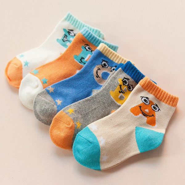 Value Pack 5pcs baby/ kid socks (suitable 1-3 age) - Jeyve.com